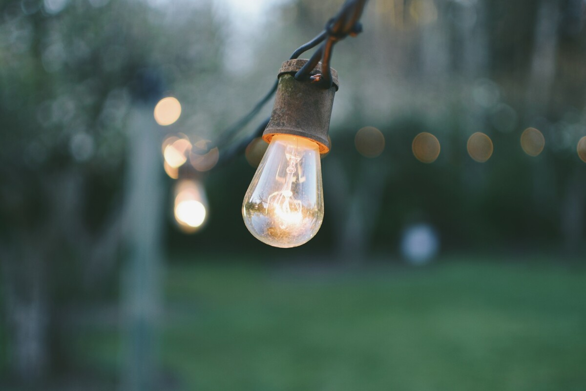 edison led dimmable patio light string